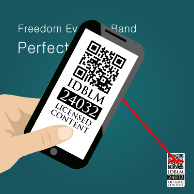 Smartphone scanning the seal of authenticity